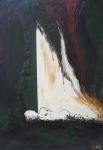 yves juhel, art, peintre, peinture, l'œuvre de la semaine, huile, toile, 1990, personnage, misère