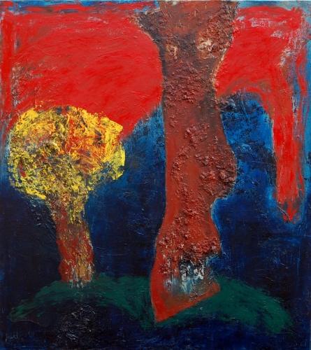 yves juhel, art, peintre, peinture, l'œuvre de la semaine, huile, toile, 1994, arbre