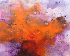yves juhel,art,peinture,peintre,rétrospective,2000,2001,huile,toile,bouquet