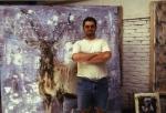 yves juhel, peinture, peintre, art, collection privée, huile, toile, 2001, animaux, cerf