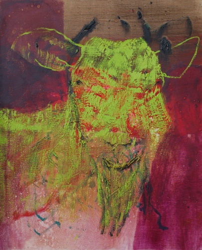 l'œuvre de la semaine, 2001, huile, toile, animaux, chèvre