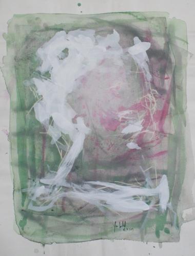 yves juhel, art, peintre, peinture, l'œuvre de la semaine, gouache, papier, 2003, personnages