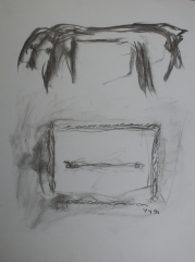 fusain, papier, 1994