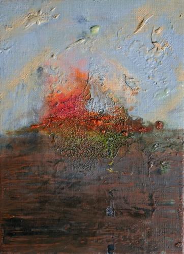 art, peintre, peinture, yves juhel, l'œuvre de la semaine, 2001, huile, toile, paysage