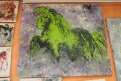 yves juhel,peintre,peinture,art,l'œuvre de la semaine,huile,toile,2001,animaux,équidés,cheval