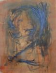 yves juhel, art, peintre, peinture, l'œuvre de la semaine, 2002, gouache, papier, encre, personnage