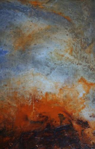 yves juhel, peintre, peinture, art, l'œuvre de la semaine, huile, contreplaqué, 2000, paysage