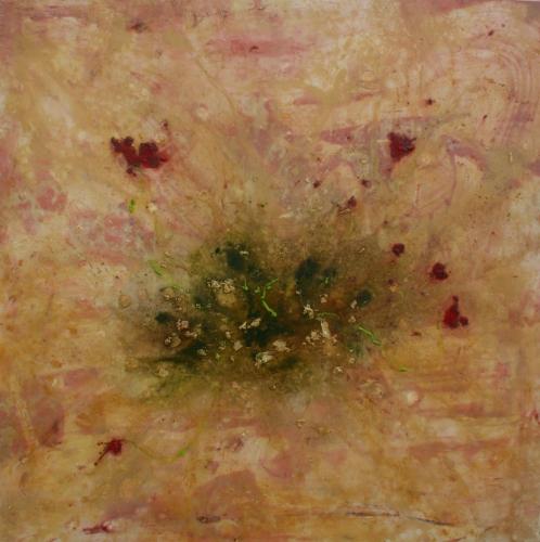 yves juhel, peintre, peinture, art, l'œuvre de la semaine, huile, toile, 2000, bouquet