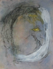 yves juhel,art,peintre,peinture,rétrospective,gouache,fusain,papier,2001,personnages,cyclope