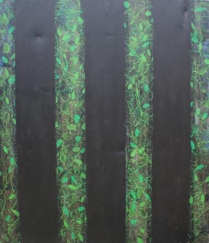 l'œuvre de la semaine, huile, toile, 1996, arbre