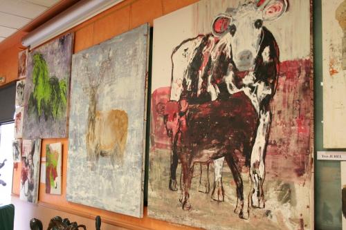 l'œuvre de la semaine, 2001, huile, toile, animaux, vache