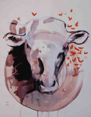 yves juhel,art,peintre,peinture,rétrospective,2002,gouache,papier,animaux